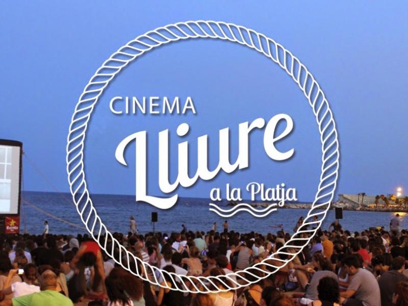 Every Thursday open air cinema on the beach of Barcelona