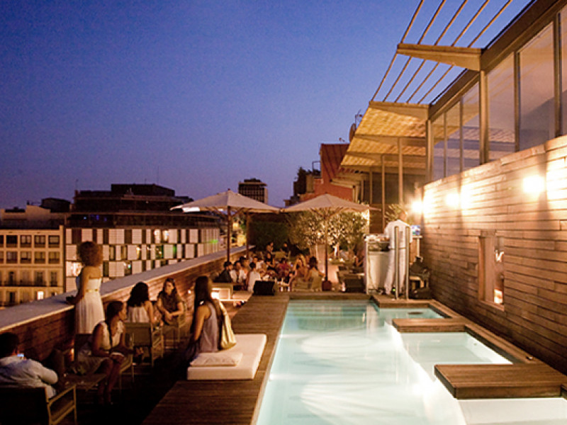 Week of the terraces of the hotels in Barcelona